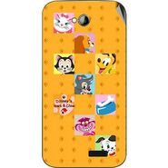 Snooky 45984 Digital Print Mobile Skin Sticker For Micromax Bolt A089 - Yellow