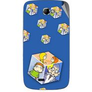 Snooky 46096 Digital Print Mobile Skin Sticker For Micromax Canvas Engage A091 - Blue