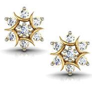 Avsar Real Gold and Swarovski Stone Anjali Earrings_Ave009yb