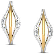 Avsar Real Gold and Swarovski Stone Aishawarya Earrings_Bge034yb
