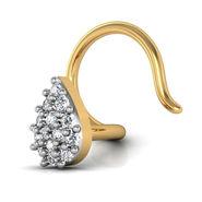 Avsar Real Gold & Swarovski Stone Rajshree Nose Pin_Av17yb