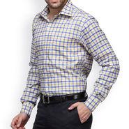 Copperline Cotton Rich Formal Shirt_CPL1152 - Yellow Blue