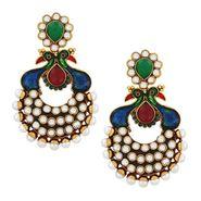 Spargz Peacock Enamel Antique Earring_Aier095 - Multicolor