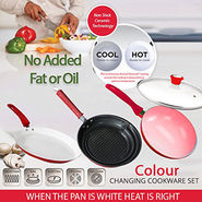 Set Of 2 Colour Changing Pan+Grill Pan-I49