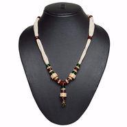 Pourni Pearl & Color Stone Necklace Mala _Nk550