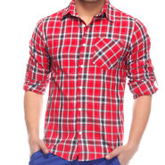 Mind The Gap Full Sleeves Shirt For Men_S7104 - Red