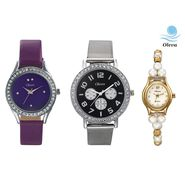 Combo of 3 Oleva Analog Wrist Watches For Women_Ovd173