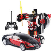 2 in1 Remote Control Robot cum Buggati Toy Car - Red