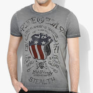 Branded Cotton Slim Fit Tshirt_Edhc01 - Dark Grey