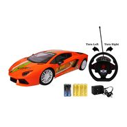 Fast Racing Furious 5 Gravity Orange Sensor Car with Steering Wheel RC