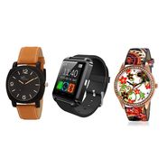 Combo of 2 Analog Watches + 1 Smart Watch_U8c04