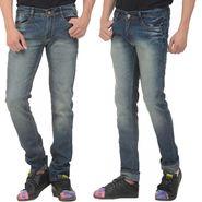 Pack of 2 Forest Plain Slim Fit Jeans_Jnfrt12 - Blue