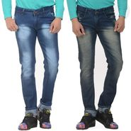 Pack of 2 Forest Plain Slim Fit Jeans_Jnfrt1314 - Blue