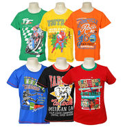 Pack of 6 Little Star Printed Boy's Round Neck Multicolor T-Shirt