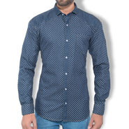 Branded Denim Cotton Shirt_Gkds11 - Blue