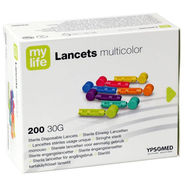 Mylife Sterile Disposable Lancets Multicolor (200/Pack)