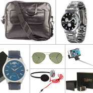 Fidato Combo of Men's Laptop Bag + 7 Utility Accessories