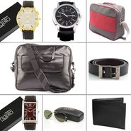 Fidato Combo of Urbane Men's Laptop Bag + 7 Utility Accessories