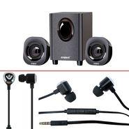 Combo of Envent Hottie Speaker + Envent Earphone With Mic