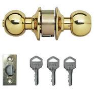 Godrej Cylindrical lock Brass finish Premium (Gold)