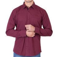 Branded Full Sleeves Cotton Shirt_R25kmaroon - Maroon