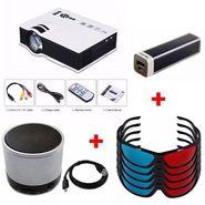 VIZIO K 1000 HD LED Projector with 1000 Lumens (White) + Five 3D Glasses + 2600 mAh Power Bank + Bluetooth Speaker
