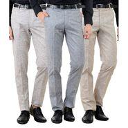 Pack of 3 American Elm Formal Trousers For Men_Tr43