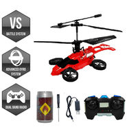 Mars Strike Remote Control 2in1 Helicopter & Car - Red
