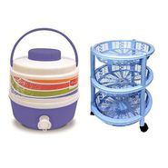 Princeware Water Cooler & Vegetable Trolley