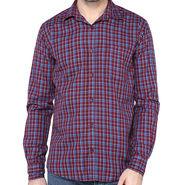 Crosscreek Full Sleeves Cotton Shirt For Men_1030316 - Maroon