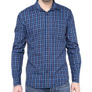 Crosscreek Full Sleeves Cotton Shirt For Men_1030317 - Navy Blue