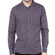 Crosscreek Full Sleeves Cotton Shirt For Men_1030318 - Brown