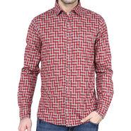Crosscreek Full Sleeves Cotton Shirt For Men_1030319 - Red