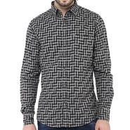 Crosscreek Full Sleeves Cotton Shirt For Men_1030321 - Black