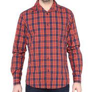Crosscreek Full Sleeves Cotton Shirt For Men_1130309 - Orange
