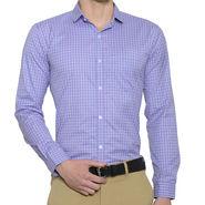 Being Fab Checks Shirt For Men_Bfpld113 - White & Purple