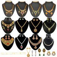 Kriaa 13 Jewellery Set With Free Three Earrings & One Payal_1002141