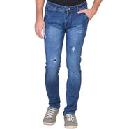 Slim Fit Stretchable Jeans For Men_Fpj152 - Blue
