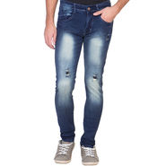 Slim Fit Stretchable Jeans For Men_Fpj157 - Blue