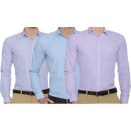 Pack of 3 Slim Fit Stripes Shirts For Men_Bfstrp10123