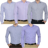 Pack of 5 Slim Fit Shirts For Men_Bfpld11313712