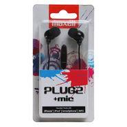 Maxell Plugz with Mic In Ear Earphones Black