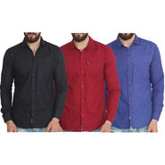 Pack of 3 Pelican Slim Fit Cotton Shirt For Men_Cs010204