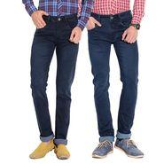 Pack of 2 American Elm Stretchable Slim Fit Jeans_Aemj12 - Blue