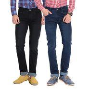 Pack of 2 American Elm Stretchable Slim Fit Jeans_Aemj13 - Black & Blue