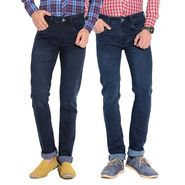Pack of 2 American Elm Stretchable Slim Fit Jeans_Aemj14 - Blue