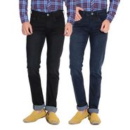 Pack of 2 American Elm Stretchable Slim Fit Jeans_Aemj23 - Black & Blue