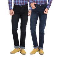 Pack of 2 American Elm Stretchable Slim Fit Jeans_Aemj34 - Black & Blue