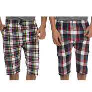 Pack of 2 Fizzaro Cotton Capris For Men_Fzbc0102 - Multicolor