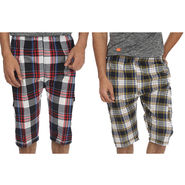 Pack of 2 Fizzaro Cotton Capris For Men_Fzbc0203 - Multicolor
